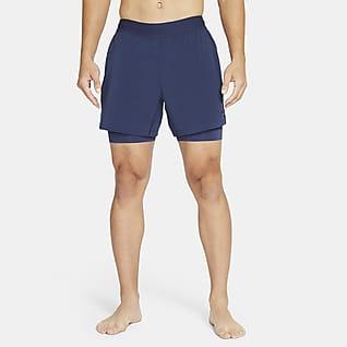 Nike Yoga 2'si 1 Arada Erkek Şortu