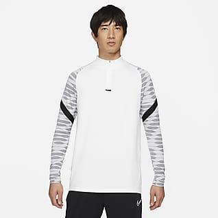 Nike Dri-FIT Strike Мужская футболка для футбольного тренинга с молнией 1/4