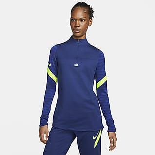 Nike Dri-FIT Strike Fodboldtræningstrøje med 1/4 lynlås til kvinder