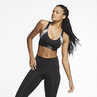Nike Indy Αθλητικός στηθόδεσμος ελαφριάς στήριξης με ενίσχυση και μεταλλιζέ όψη