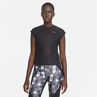 Serena Design Crew Haut de tennis à manches courtes pour Femme
