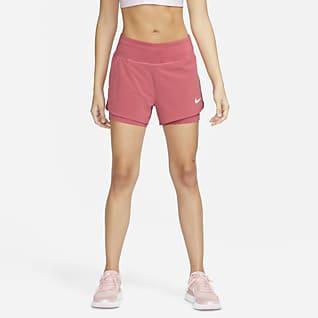 Nike Eclipse Shorts da running 2 in 1 - Donna