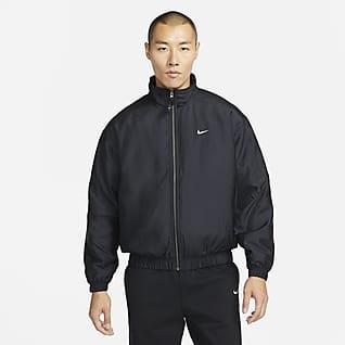 Nike Solo Swoosh เสื้อแจ็คเก็ตบอมเบอร์ผ้าซาติน