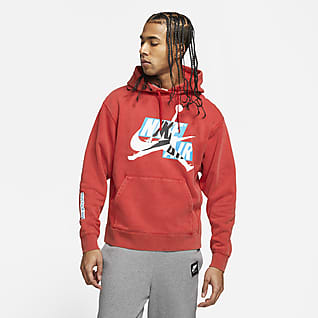 Jordan Jumpman Classics Men's Washed Fleece Pullover Hoodie