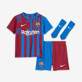 FC Barcelona 2021/22 (hjemmedrakt) Fotballdraktsett til sped-/småbarn