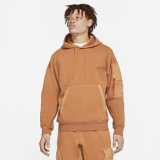Jordan 23 Engineered เสื้อมีฮู้ดผ้าฟลีซผู้ชายฟอกสี