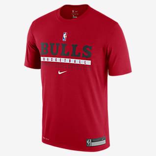 Bulls Practice Nike Dri-FIT NBA T-skjorte til herre
