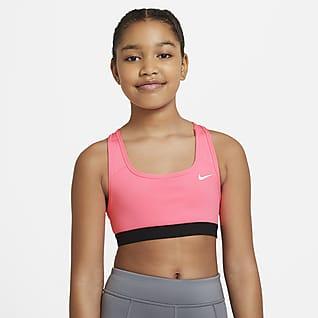 Nike Swoosh Спортивное бра для девочек школьного возраста