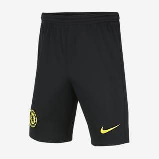 ChelseaFC 2021/22 Stadium Extérieur Short de football Nike Dri-FIT pour Enfant plus âgé