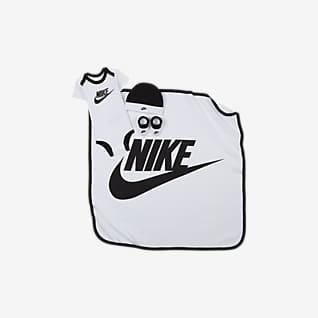 Nike Conjunto de body, gorro, cubrecalzado y manta para bebé