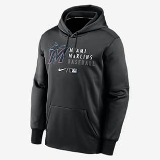 Nike Therma (MLB Miami Marlins) Men's Pullover Hoodie