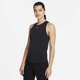 Nike Dri-FIT One Luxe Tanktop met standaardpasvorm voor dames