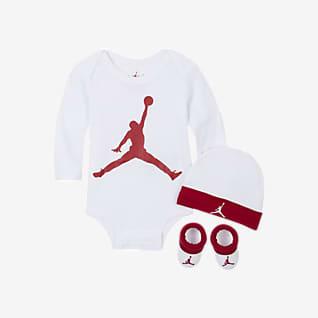 Jordan Conjunto de body, gorro e carapins para bebé