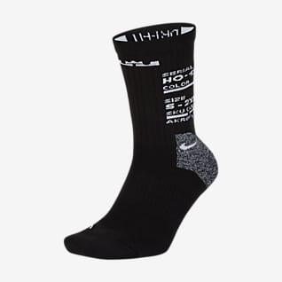 LeBron Elite Středně vysoké basketbalové ponožky