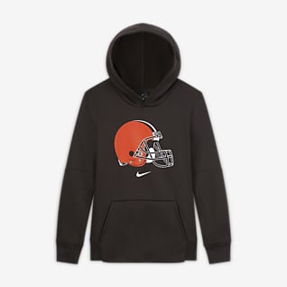 Nike Essential Cleveland Browns Dessuadora amb caputxa i logotip - Nen