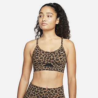 Nike Dri-FIT Indy Bra glitterato a sostegno leggero con imbottitura - Donna