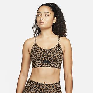 Nike Dri-FIT Indy Sostenidores esportius de subjecció lleugera brillants amb coixinet - Dona