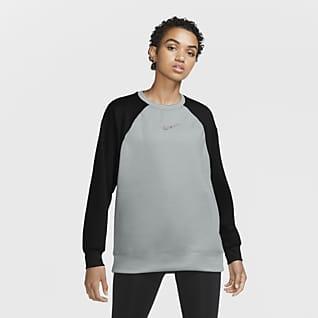 Nike Therma Træningstrøje med rund hals til kvinder