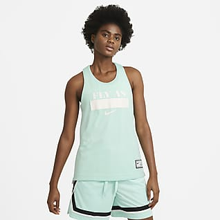 Nike Essential Fly Omkeerbare basketbaljersey voor dames