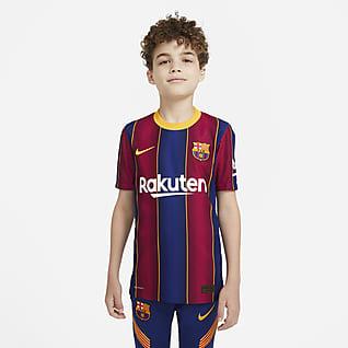 FC Barcelona Vapor Match 2020/21 (wersja domowa) Koszulka piłkarska dla dużych dzieci