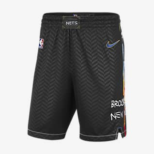 Brooklyn Nets City Edition 2020 Shorts Nike NBA Swingman para hombre