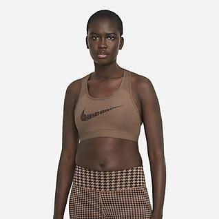 Nike Dri-FIT Swoosh Icon Clash 女子中强度支撑印花运动内衣