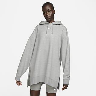 Nike Sportswear Γυναικεία φλις μπλούζα με κουκούλα Essential