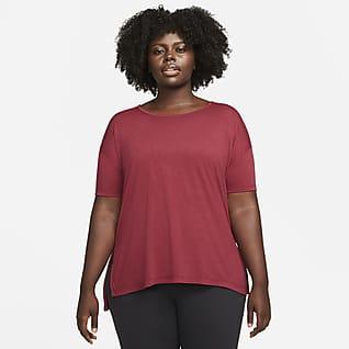 Nike Yoga Kortärmad topp för kvinnor (Plus Size)