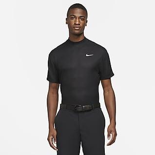 Nike Dri-FIT Tiger Woods Golftop met korte mouwen en hoge kraag voor heren