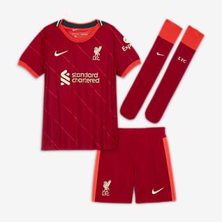 Liverpool FC 2021/22 de local Kit de fútbol para niños talla pequeña