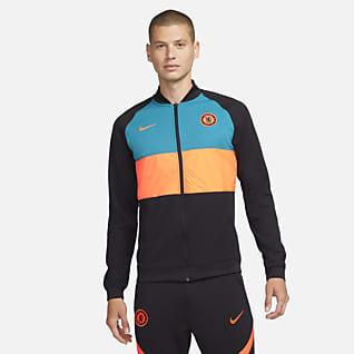 Chelsea FC Męski kurtka piłkarska z zamkiem na całej długości