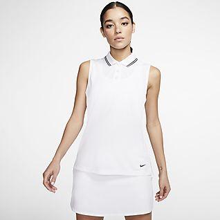 Nike Dri-FIT Victory Ärmlös golfpikétröja för kvinnor