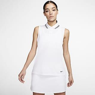 Nike Dri-FIT Victory Polo de golfe sem mangas para mulher