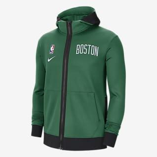 Boston Celtics Showtime Felpa con cappuccio Nike Therma Flex NBA - Uomo