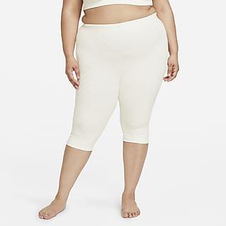 Nike Yoga Luxe Women's High-Waisted Jacquard Capri Leggings (Plus Size)
