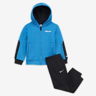 Nike Air Conjunto de hoodie com fecho e calças para bebé (12–24 meses)