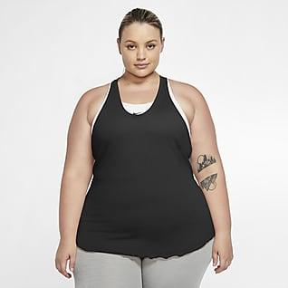 Nike Yoga Damska koszulka bez rękawów (duże rozmiary)