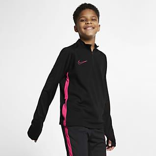 Nike Dri-FIT Academy Prenda para la parte superior de entrenamiento de fútbol para niños talla grande