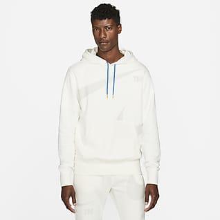 Nike Sportswear Swoosh Felpa pullover con cappuccio e rovescio semispazzolato - Uomo