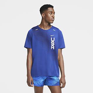 Nike Dri-FIT Team États-Unis Rise365 Haut de running à manches courtes pour Homme