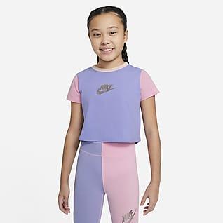 Nike Sportswear Avkortet T-skjorte til store barn (jente)