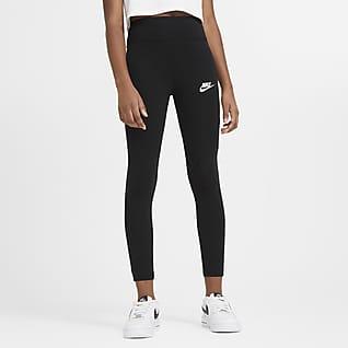 Nike Sportswear Favorites Leggings med hög midja för ungdom (tjejer)