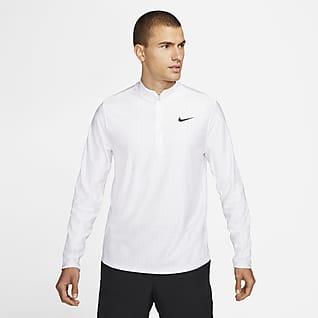 NikeCourt Dri-FIT Advantage Ανδρική μπλούζα τένις με φερμουάρ στο μισό μήκος
