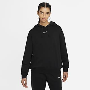 Nike Sportswear Essential Collection Hoodie folgado de lã cardada para mulher