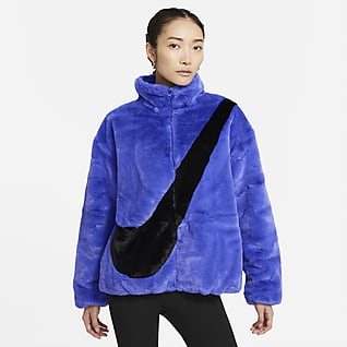 Nike Sportswear Chamarra de pelo sintético para mujer