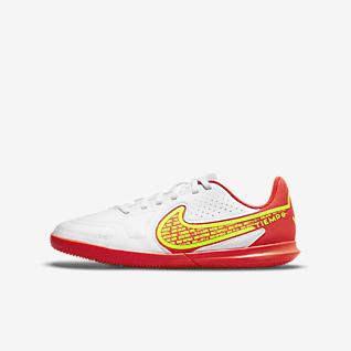 Nike Jr. Tiempo Legend 9 Club IC 小/大童體育館/路面足球鞋