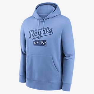 Nike Lettering Club (MLB Kansas City Royals) Men's Pullover Hoodie