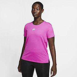 Nike Air Løbeoverdel med korte ærmer til kvinder