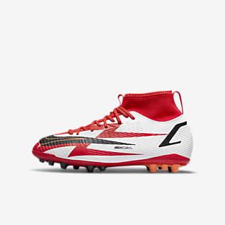 Nike Jr. Mercurial Superfly 8 Academy CR7 AG Fußballschuh für Kunstrasen für jüngere/ältere Kinder