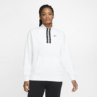 Nike Therma-FIT Sudadera de entrenamiento con gráfico de medio cierre para mujer